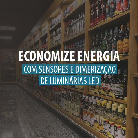 Economize energia com sensores e dimerização de luminárias LED