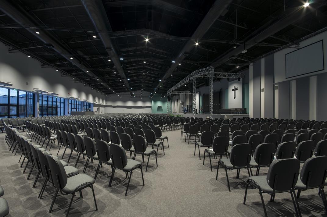 Iluminação 100% LED: Igreja Batista