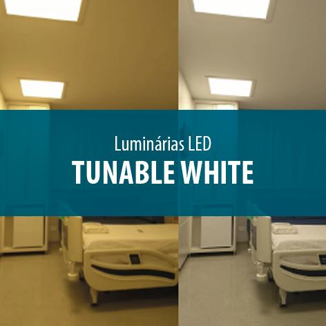Luminária LED Tunable White, tecnologia que simula o curso diário do sol
