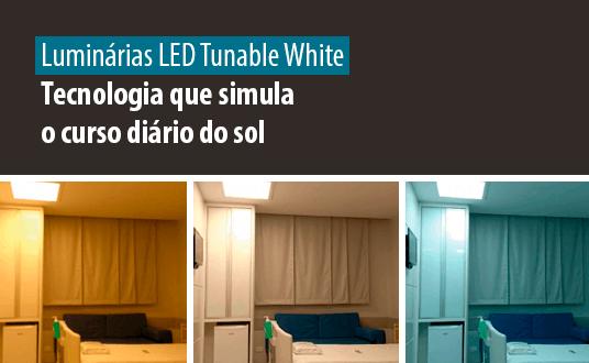 Lumicenter Lighting - Luminária LED Tunable White - Tecnologia que simula o curso diário do sol