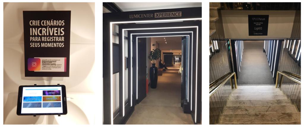 Melhores momentos da Lumicenter no LEDforum - App e corredor
