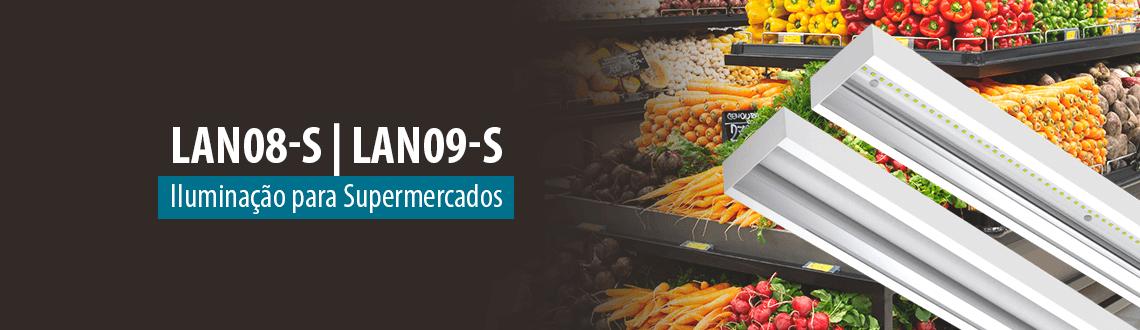 Lumicenter - Luminárias para Supermercados - Luminária LAN08-S e Luminária LAN09-S