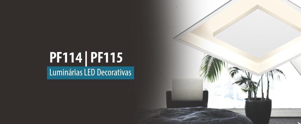 Lumicenter Lighting - Lançamento - Luminárias LED Decorativas - PF114 e PF115