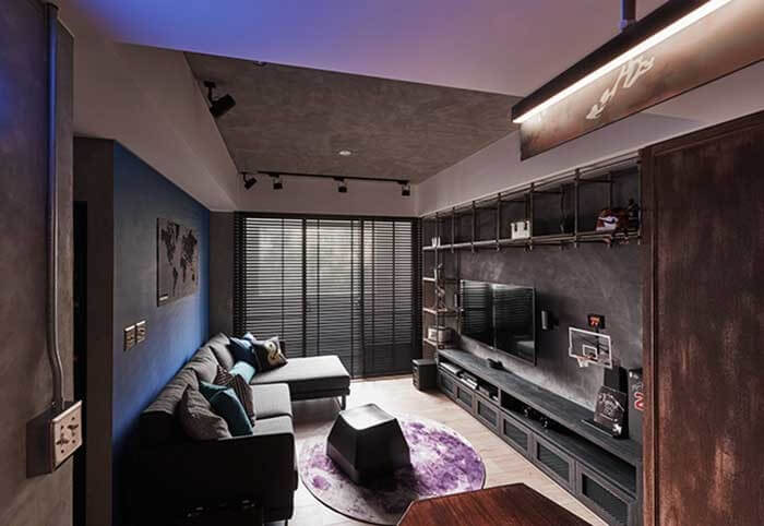 Estilo industrial: iluminação indidera deixa a sala mais acolhedora
